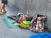 стали жертва человека потока бездомная Стоковое фото RF