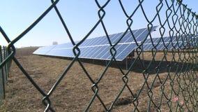 Стальная сваренная безопасность электрической станции солнечной энергии солнечная акции видеоматериалы
