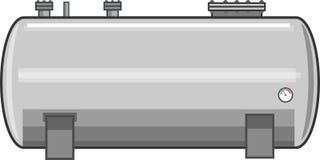 Стальной вектор топливного бака Стоковое Изображение