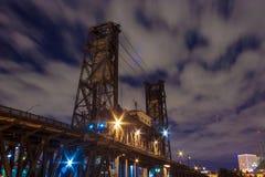 Стальной мост, Портленд ИЛИ стоковое изображение