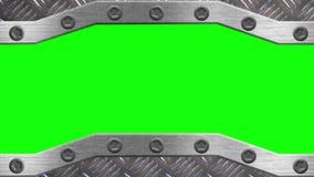 Стальной строб раскрывает и закрывает - зеленый экран акции видеоматериалы