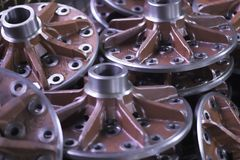 стальные колеса стоковое фото rf