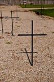 Стальные крест и тень Стоковые Изображения RF