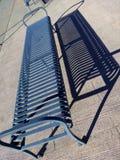Стальные стенд и тень на мостоваой Стоковые Фотографии RF