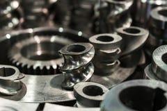 Стальные cogwheels, шестерни шпоры Стоковое фото RF