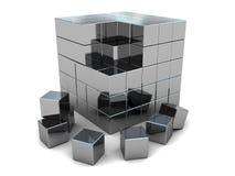 сталь головоломки кубика бесплатная иллюстрация