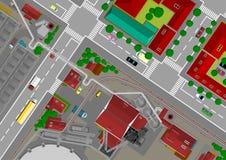 сталь города иллюстрация вектора