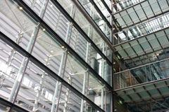 сталь здания стеклянная нутряная самомоднейшая Стоковое Изображение