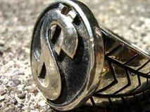 сталь знака кольца доллара Стоковая Фотография RF