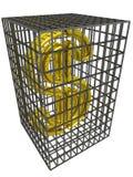 сталь золота доллара клетки иллюстрация штока