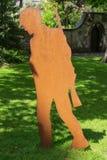 Сталь изваяла первого солдата мировой войны стоковое изображение