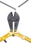 сталь кабеля болта разъединенная резцами Стоковое Изображение