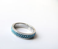 сталь кольца кристаллов Стоковое Фото