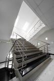 сталь лестницы поручня мраморная Стоковое Фото