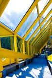 сталь лестницы поручня мраморная Стоковые Изображения RF