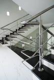 сталь лестницы поручня Стоковое Изображение RF