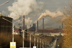 сталь металлургического предприятия утюга Стоковые Фотографии RF