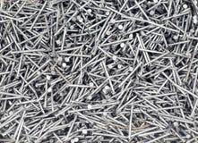 сталь ногтей серебряная Стоковое фото RF