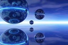 сталь отполированная глобусами Стоковые Изображения RF