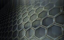 сталь пефорированная предпосылкой Стоковая Фотография RF