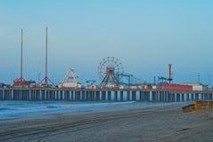 сталь пристани nj Atlantic City стоковые изображения rf