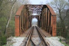 сталь рельса моста Стоковое Изображение