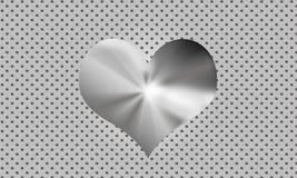 сталь сердца Стоковое Изображение