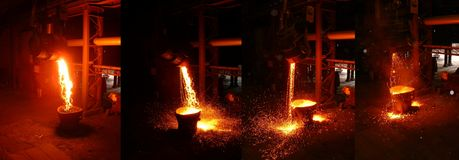 сталь стана Стоковое Фото