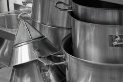 сталь kitchenware стоковое фото