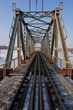 сталь railway моста стоковое изображение