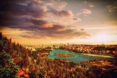 Стамбул взгляд Турции - городского пейзажа панорамный Стоковое фото RF
