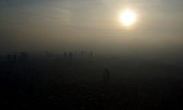 Стамбул в тумане Стоковая Фотография