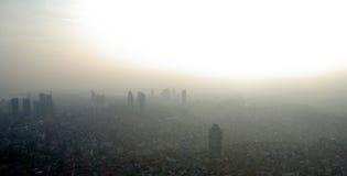 Стамбул в тумане Стоковые Изображения RF