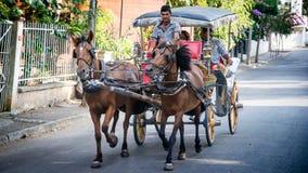 Стамбул, Турция - 10-ое августа 2013: Тележки лошади принца Острова в Стамбуле, Турции стоковое фото rf