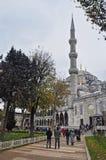 Стамбул, Турция - 22-ое ноября 2014: Мечеть Ahmed султана (популярно известная как голубая мечеть) Стоковое Изображение RF