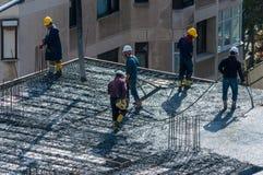 Стамбул, Турция - 11-ое ноября 2016: Рабочий-строители в a Стоковые Фото