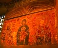 Стамбул, Турция - 13-ое февраля 2010: Мозаика на стене Hagya Sophya, Турции Стоковое Изображение RF