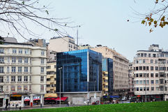 Стамбул, Турция - 23-ье ноября 2014: Взгляд Taksim - придайте квадратную форму в центральном Стамбуле Стоковое Фото