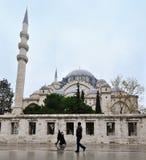 Стамбул, Турция - 23-ье ноября 2014: Мечеть Suleymaniye мечеть тахты имперская расположенная на третьем холме Стамбула Стоковое Изображение