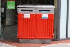 Стандартные и быстрые коробки почты Новой Зеландии в улице Стоковое Изображение RF