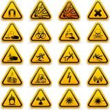 Стандартные символы опасности иллюстрация вектора