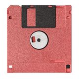 Стандартный голубой гибкий магнитный диск изолированный на белой предпосылке стоковая фотография rf