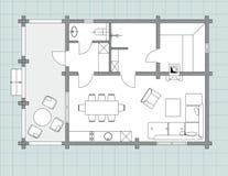 Стандартный комплект символов мебели живущей комнаты Стоковые Изображения
