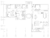Стандартный комплект символов мебели живущей комнаты Стоковая Фотография RF