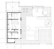 Стандартный комплект символов мебели живущей комнаты Стоковое Изображение