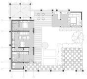 Стандартный комплект символов мебели живущей комнаты Стоковое Изображение RF