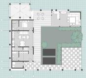 Стандартный комплект символов мебели живущей комнаты Стоковая Фотография