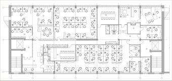 Стандартный комплект символов офисной мебели используемый в архитектуре планирует, комплект значка планирования офиса, элементы г стоковое изображение