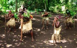 Станцеванная деревня - Вануату Стоковое Фото