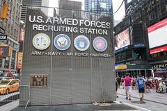 Станция армии США завербовывая стоковые фотографии rf